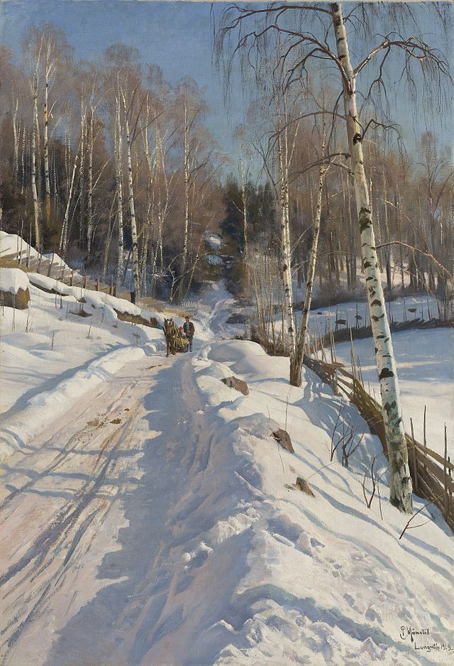 Peder_Mønsted_-_Sleigh_ride_on_a_sunny_winter_day