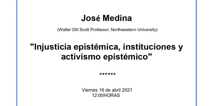 """CONFERENCE """"EPISTEMIC INJUSTICE, INSTITUTIONS AND EPISTEMIC ACTIVISM"""""""