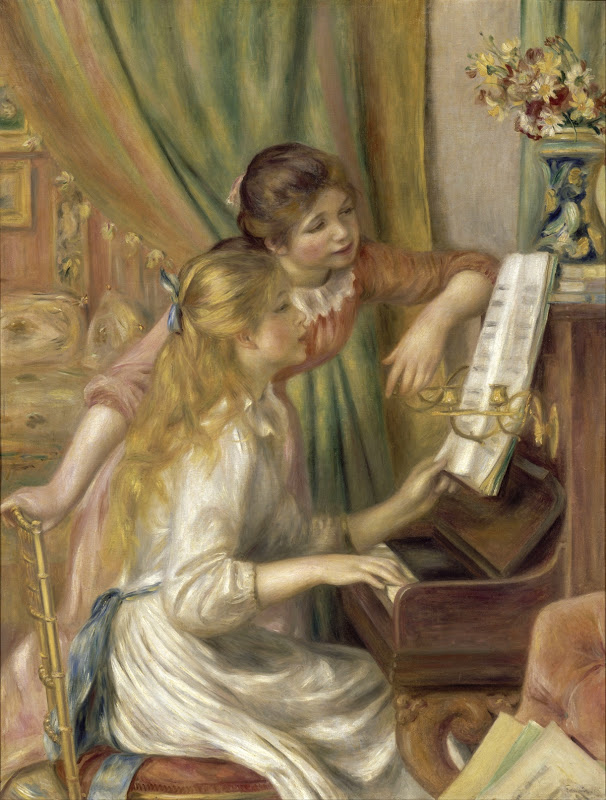 Auguste Renoir - Young Girls at the Piano