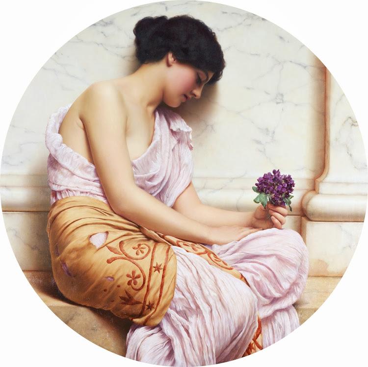 BOELLMANN - John William Godward - Violets, sweet violets (c.1906)