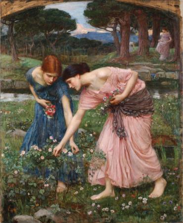 coged-rosas-mientras-podais-1909-j-w-waterhouse