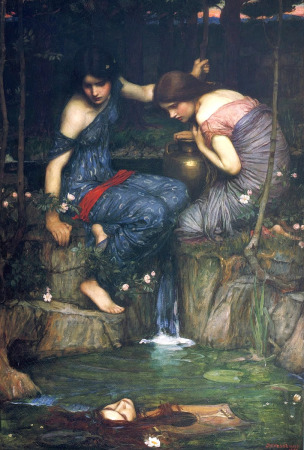 ninfas-cabeza-orfeo-1900-j-w-waterhouse