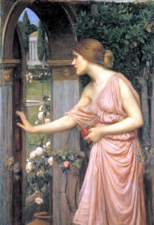 psique-abriendo-puerta-al-jardin-cupido-1904-j-w-waterhouse_1