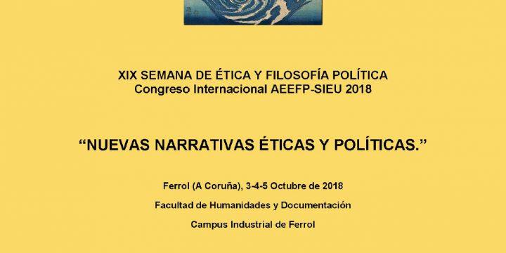 Participación de miembros de FiloLab en «Nuevas narrativas éticas y políticas», 3-5 octubre