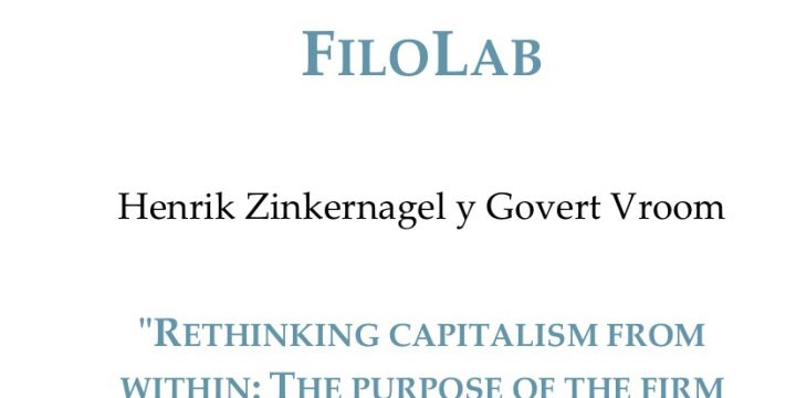 """[TeC] Henrik Zinkernagel and Govert Vroom: """"Rethinking capitalism from within: the purpose of the firm and the """"good life"""""""""""