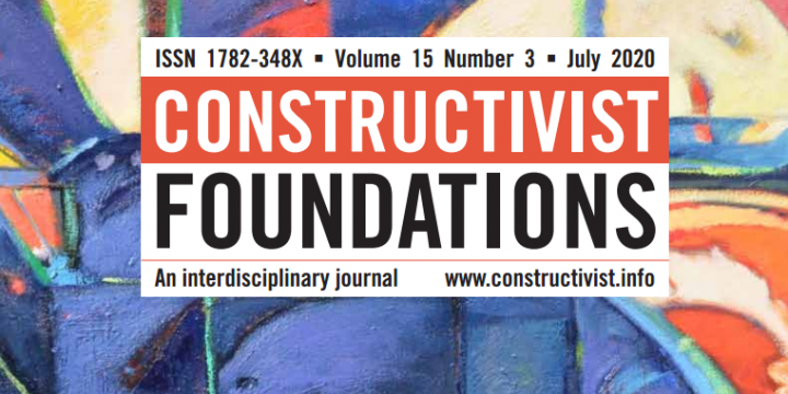 Heras Escribano: Publication of a target article with comments in Constructivist Foundations