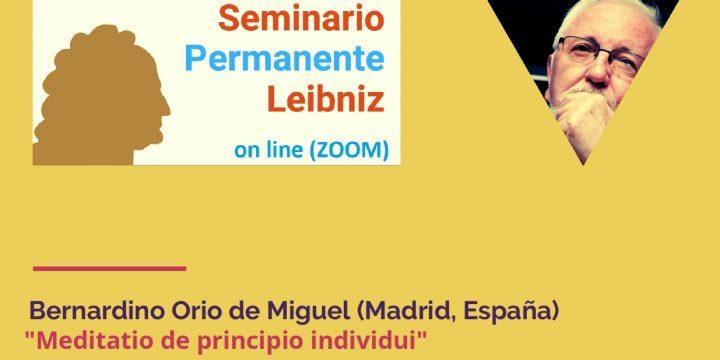 1ª Sesión del Seminario Permanente Leibniz, coordinado por Juan A. Nicolás y Manuel Sánchez Rodríguez