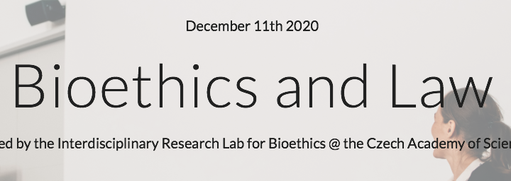 Alberto Molina Pérez: Congreso virtual «Bioethics and Law» de la Academia Checa de las Ciencias