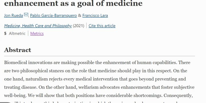 «Doctor, Please Make Me Freer: Capabilities Enhancement as a Goal of Medicine. Medicine, Health Care & Philosophy»