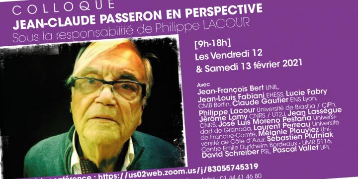 Colloque Jean-Claude Passeron en Perspective: intervención de José Luis Moreno Pestaña