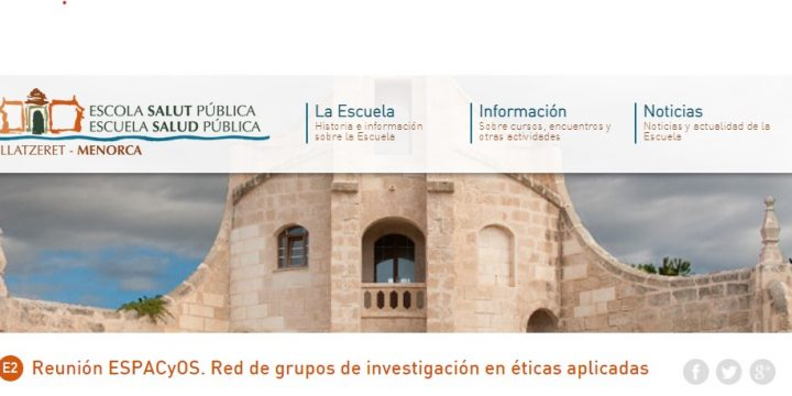 Reunión ESPACyOS. Red de grupos de investigación en éticas aplicadas