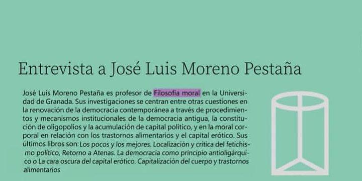 Entrevista a José Luis Moreno Pestaña: «La oligarquización de la democracia»