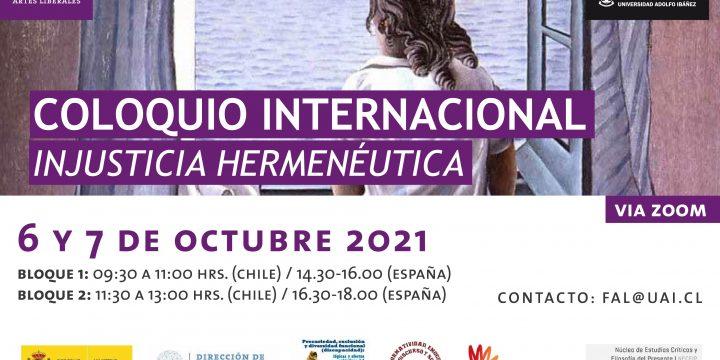 Coloquio Internacional «Injusticia Hermenéutica»