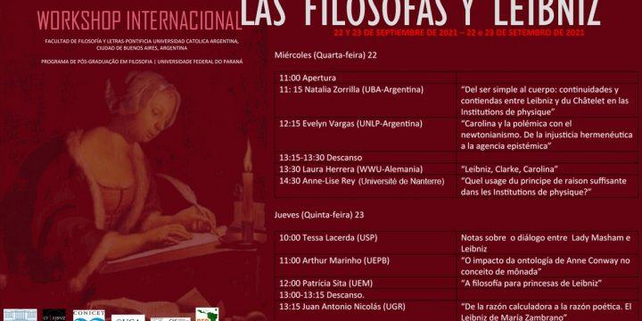 Workshop Internacional: «Las filósofas y Leibniz»