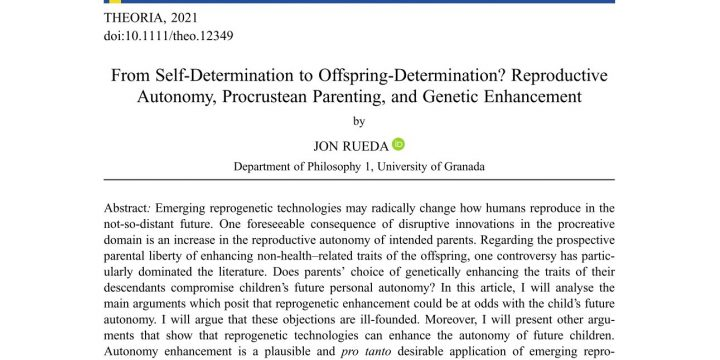 «From self-determination to offspring determination? Reproductive autonomy, procrustean parenting, and genetic enhancement»
