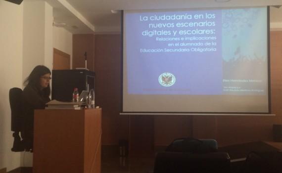 Durante la presentación de la tesis