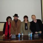 """Milena Rodríguez,  Ángeles Mora, Juan Carlos Rodríguez y Mariano Maresca, presentación de """"El otro lado"""", Universidad de Granada, 2007"""