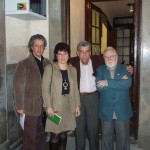 """José Carlos Rosales, Milena Rodríguez, Guillermo Rodríguez Rivera y Juan de Loxa, presentación de """"El otro lado"""", Granada, 2007"""
