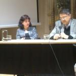 Milena Rodríguez y Sergio Ramírez, presentación conferencia S. Ramírez, Universidad de Granada, 2014