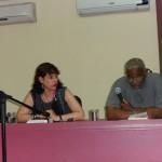 """Milena Rodríguez y Víctor Fowler, presentación de la antología """"Otra Cuba secreta"""", La Habana, 2014"""
