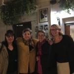 Milena Rodríguez, Luisa Campuzano, Josefina de Diego y Andrea Gremels, Granada, 2016