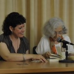 """Milena Rodríguez y Fina García Marruz, La Habana, 2010, presentación antología """"El instante raro"""""""