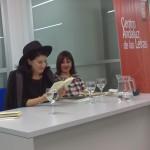 """Aurora Luque y Milena Rodríguez, presentación de """"Médula"""" y """"Fabricación de las islas"""", Granada, 2014"""