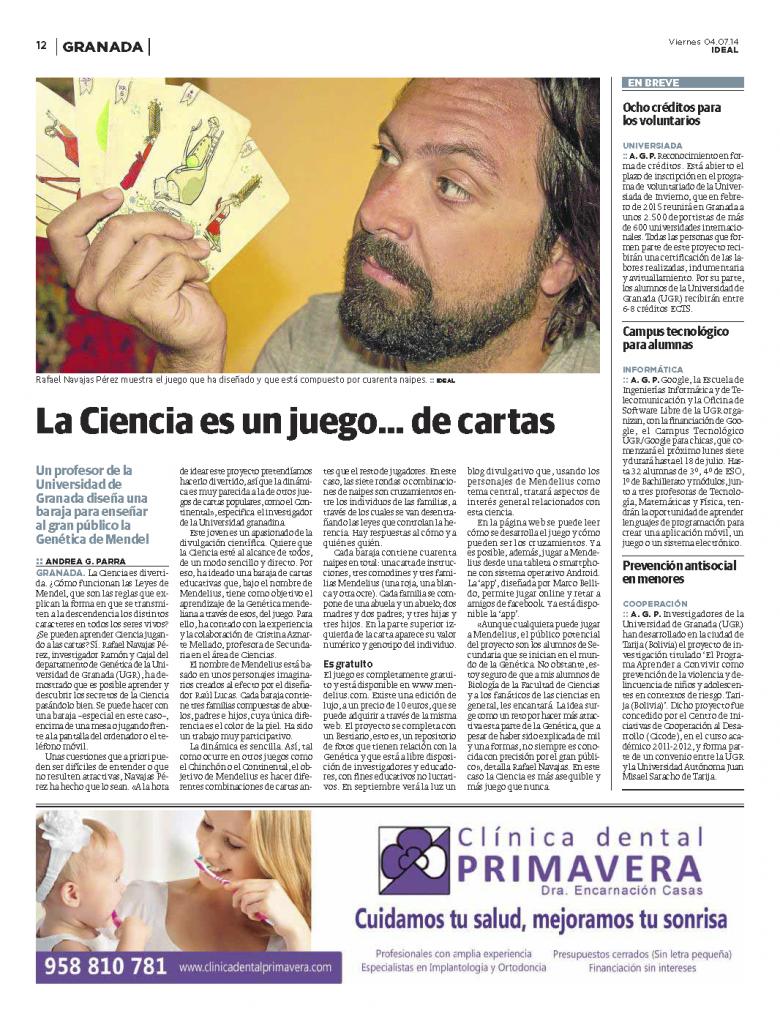 """""""La Ciencia es un juego... de cartas""""."""